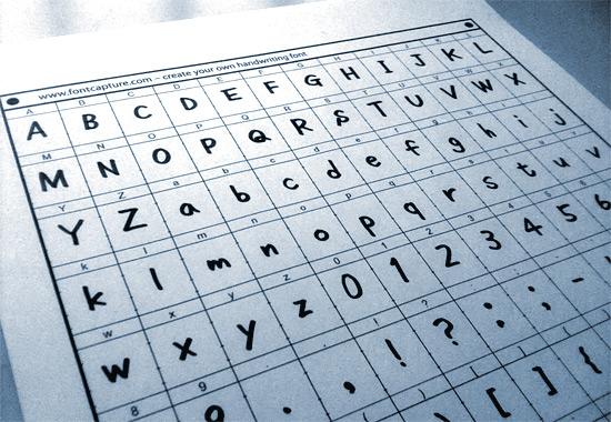 フォントを自作できるfontcapture